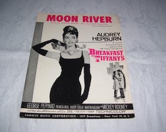 Moon River Sheet Music Breakfast at Tiffany's Sheet Music Vintage