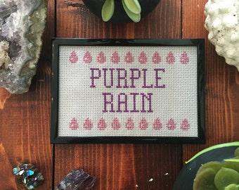 Prince Purple Rain Cross Stitch