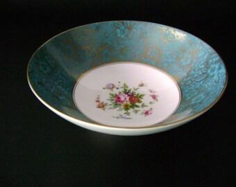 Minton bone china floral and gilt bowl
