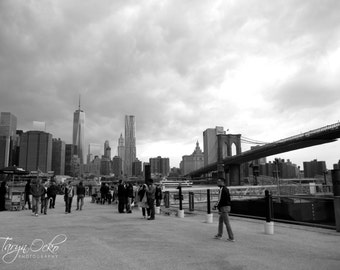 View from Brooklyn Black and White Photography Print