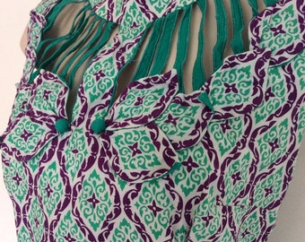 Hand made Psychedelic Vintage Green and Purple Dress