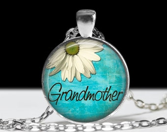Grandmother Necklace Jewelry Necklace Wearable Art Pendant Charm Gift for Mother Family Jewelry