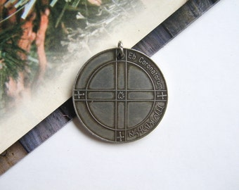 OLD Eb Coroatorum TALISMAN for good memory large Coin Pendant Medal Charm exc. condition