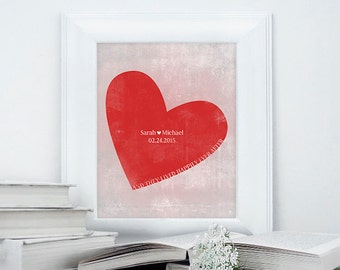 Customizable And they lived happily ever after poster, wedding print, wedding gift, anniversary poster, anniversary gift, distressed poster