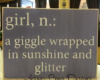 Girl Definition sign