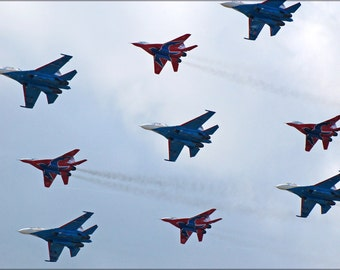24x36 Poster . The Big Nine - Flight Groups Russian Knights And Strizhi