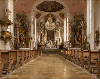24x36 Poster . Saint-Peter Saint-Paul Church, Bavaria, Germany
