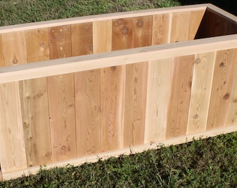 Brand New Large Open Base All Cedar Garden Planter Box, 2 feet by 4 feet by 2 feet high - Free Shipping