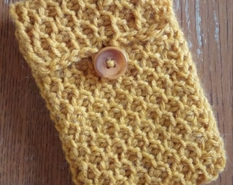 Handmade Tunisian Crochet Honeycomb Tarot Bag