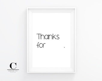 Thanks For Nothing Print | 8x10