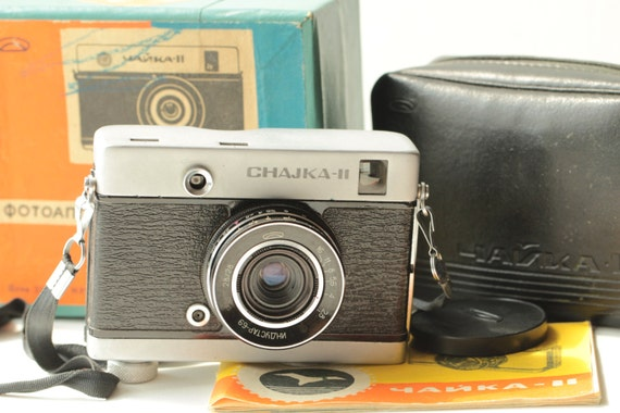 CHAIKA II 2 Russian Half Frame camera ussr box lens M39 Industar 69 LOMO N-69