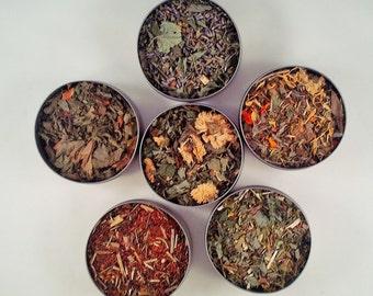 Herbal Delight - 6 pack - dried herbs - herbal tea - Rooibos Tea - organic - all natural - caffiene free