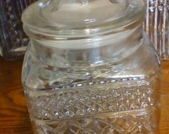 Vintage Apothecary jar, by Anchor Hocking