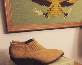 Vintage western tan ankle boots/Booties/Zodiac/Size:8