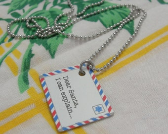 Letter to Santa Necklace