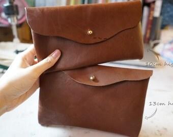 Simple Leather Pouches Handbag (cross shoulder bag)