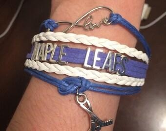 Toronto Maple Leafs bracelet - Maple Leafs jewelry - Maple Leafs bracelet - Maple Leafs fan - Maple Leafs - Toronto bracelet
