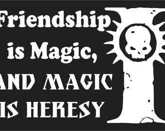 Magic is Heresy Inquisition Decal