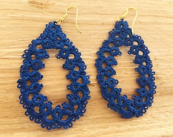 "Tatted earrings ""Beads"""