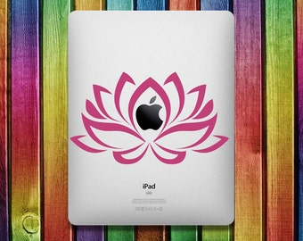 Pink Lotus Flower iPad Sticker Decal - decal stickers,  ipad stickers, sticker apple, ipad decals,  ipad sticker, sticker ipad