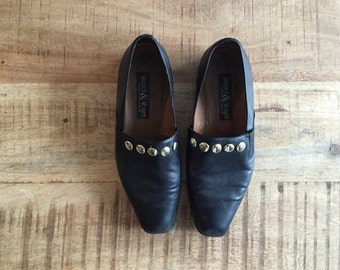 Vintage 80's Studded Leather Shoes