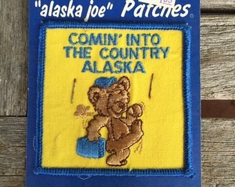 Alaska Comin' into the Country Vintage Souvenir Travel Patch from J&H Sales in Anchorage, AK