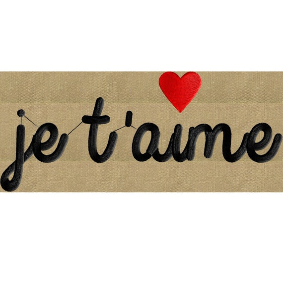 I Adore You In French Je Taime I love you in...