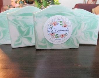 Coconut Lime Handmade Artisan Bar Soap - Cold Process Soap - Artisan Soap - Handmade Soap - Bar Soap