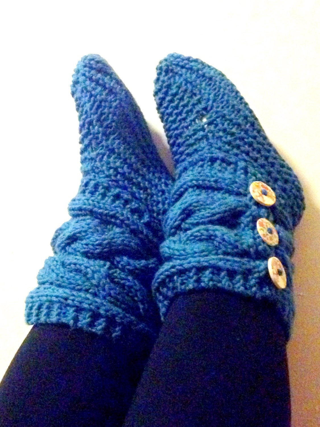 slipper boots s chunky cable knit slippers by