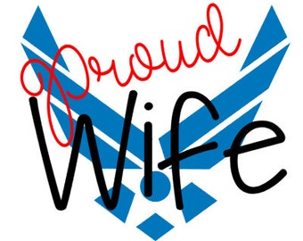 Air Force Proud Wife vinyl decal