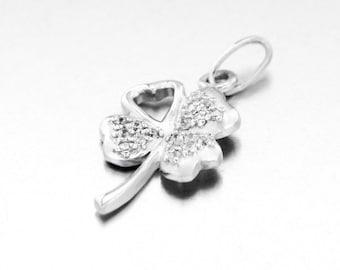 Pendant silver Shamrock 4 leaf