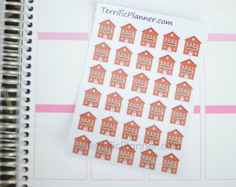 School House Stickers For Planner  #004