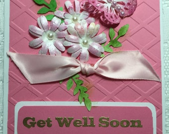 Get Well Soon, Cards, Elegant, Feminine,