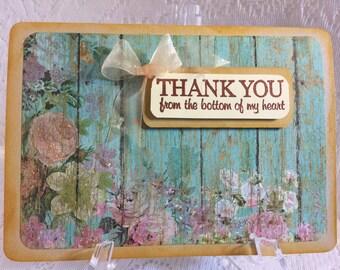Thank You, Elegant Handmade, Greeting Card,