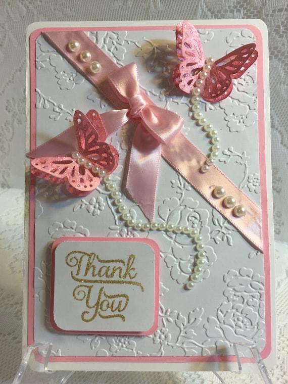 Thank you elegant handmade greeting card for Elegant homemade christmas cards