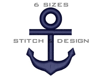 ANCHOR Embroidery Design Anchor Fill Design Anchor Machine Embroidery Design Anchor Design 6 Sizes Instant Download Design