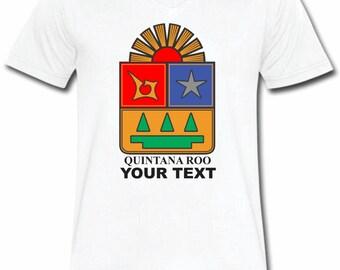Quintana Roo Mexico T-shirt V-Neck Tee Vapor Apparel with a FREE custom text(optional)