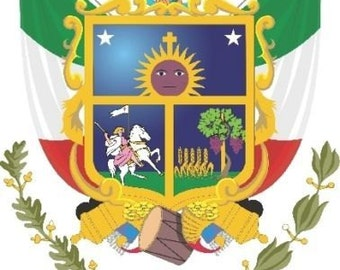 2 Pieces Querétaro Mexico. Coat Of ArmsDecals Stickers Full Color/Weather Proof. U.S.A Free Shipping