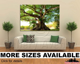 Wall Art Giclee Canvas Picture Print Gallery Wrap Ready to Hang - Peacefull Tree - 60x40 48x32 36x24 24x16 18x12 3.2