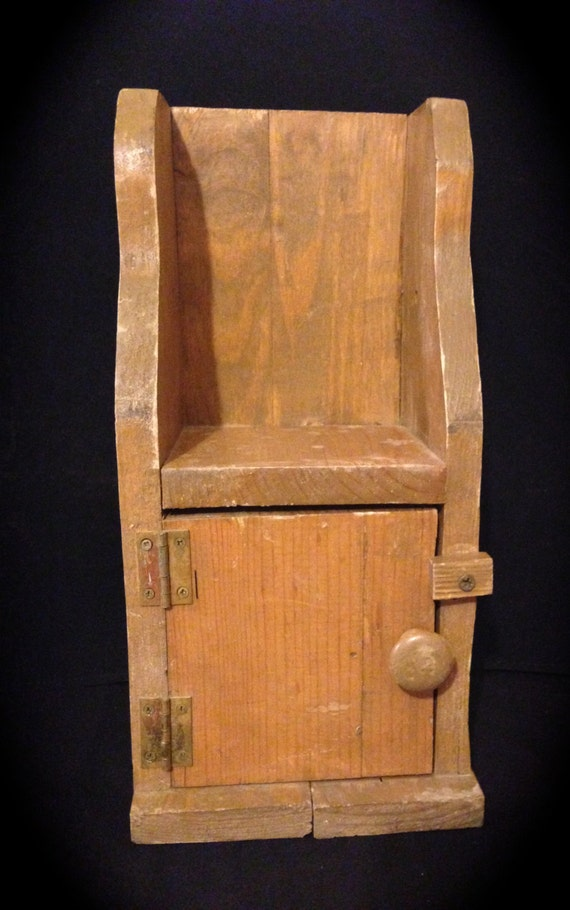Primitive cupboard handmade wooden cabinet small by