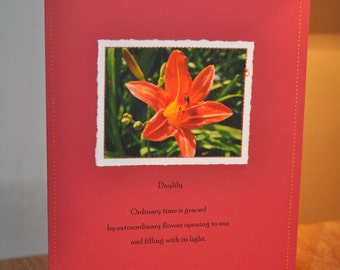 day lily Paper Stitches notecard