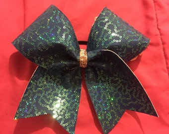 Squiggle Sequin Bow