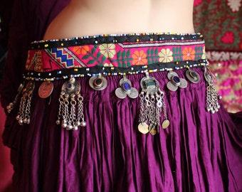 Tribalbelt with Tribal Pendants II, Vintage, Hippiebelt, Bohobelt