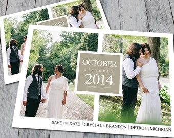 Modern Photo Collage Save The Date (Digital)
