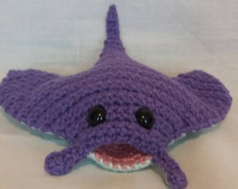 Crochet Manta Ray - Crochet Toy - Manta Ray Soft Toy - Sting Ray - Sea Creatures - Underwater - Aquatic - Unusual Toy - Sealife Gifts