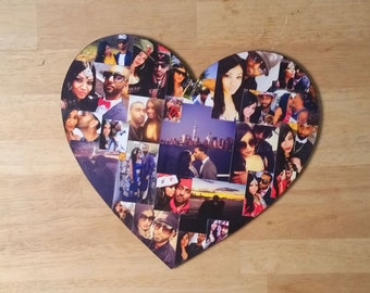 Valentines Heart Photo Collage, Heart Photo Collage, Personal Collage, Photo Collage, Personal Photo Collage, Custom Photo Letters