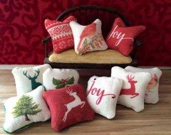 Dollhouse Miniature Mix and Match pillows