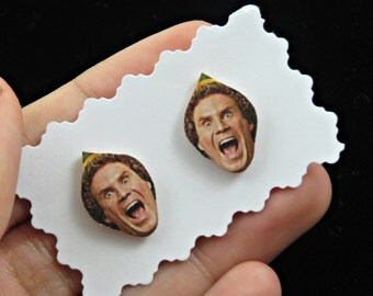 buddy the elf earrings - elf the movie - christmas - christmas earrings - funny earrings - will ferrell earrings