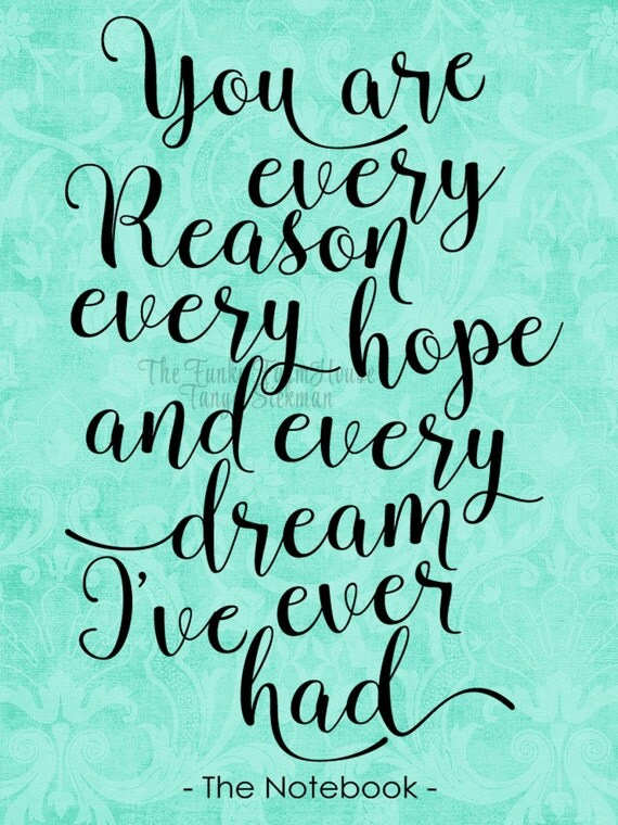 SVG, DXF & PNG - You are every reason every hope and every dream ...