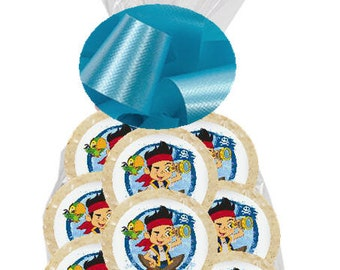 12pack Jake and The Neverland Pirates Individually Wrapped Baked Birthday Party Favor Cookies
